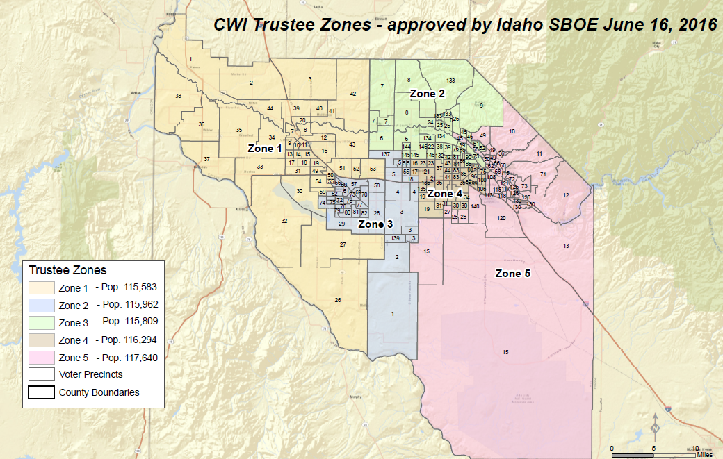 CWI Trustee Zones with Precincts