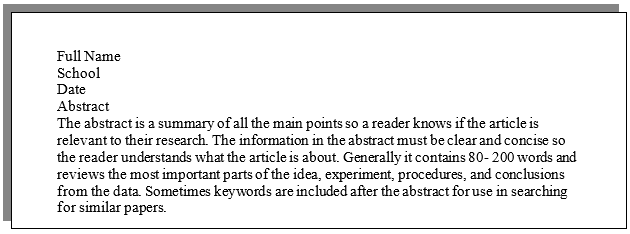 Do all research papers need an abstract