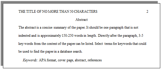 How do I set up a paper with APA formatting? | CWI