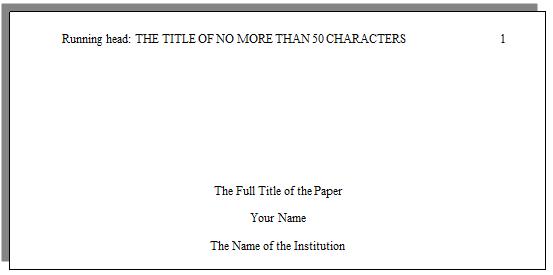 How Do I Set Up A Paper With APA Formatting