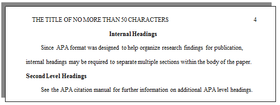 apa paper example with headings