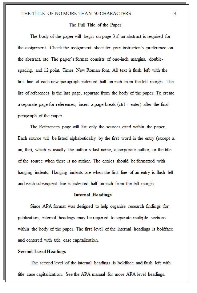 How to write essays apa style