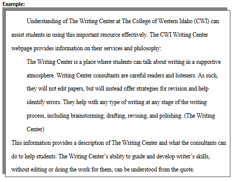 Example of close reading essay
