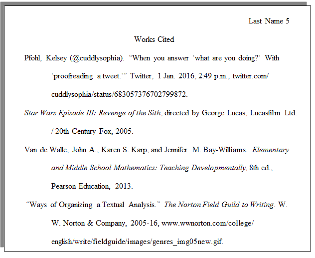 how do i set up a paper with mla formatting  cwi example of an mla works cited page