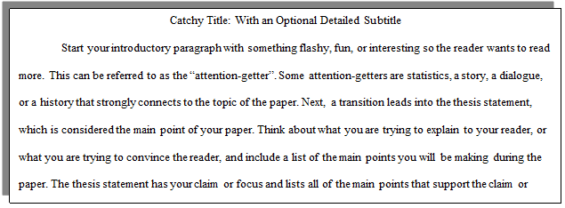 how do i organize a standard academic paper  cwi introduction paragraph example