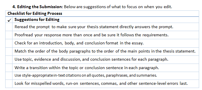What Are Some Good Strategies For Essay Tests  College Of  Part