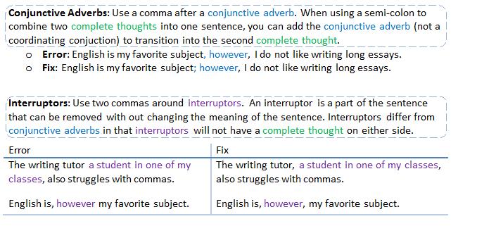 when do i use commas
