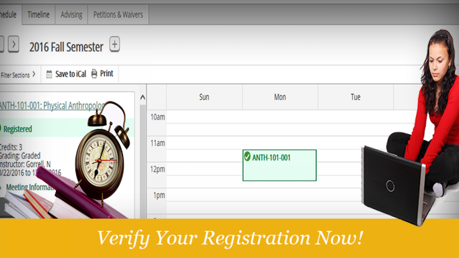 Validate you are Registered in Student Planning