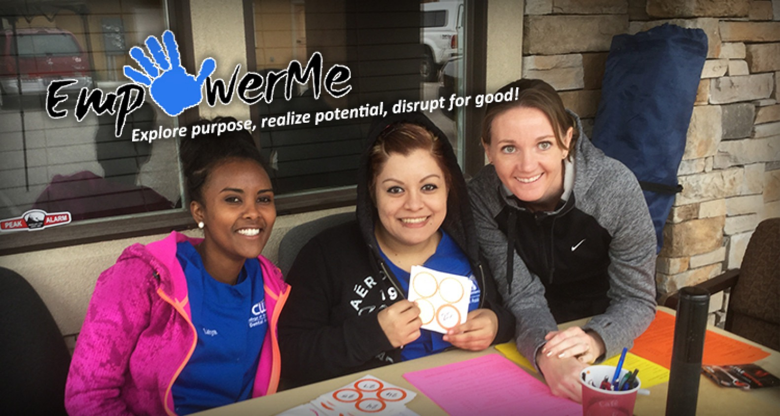 Group of smiling students | EmpowerMe: Explore purpose, realize potential, disrupt for good!