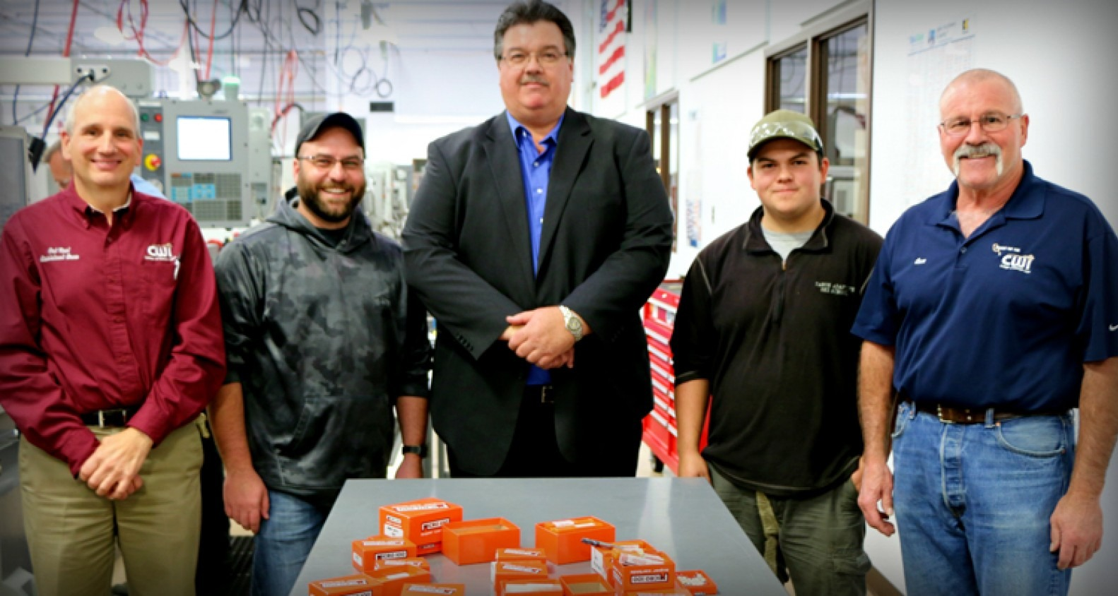 CWI Machine Tool Technology students and employees pictured with Craig Graf, Micro 100's Vice President of Manufacturing