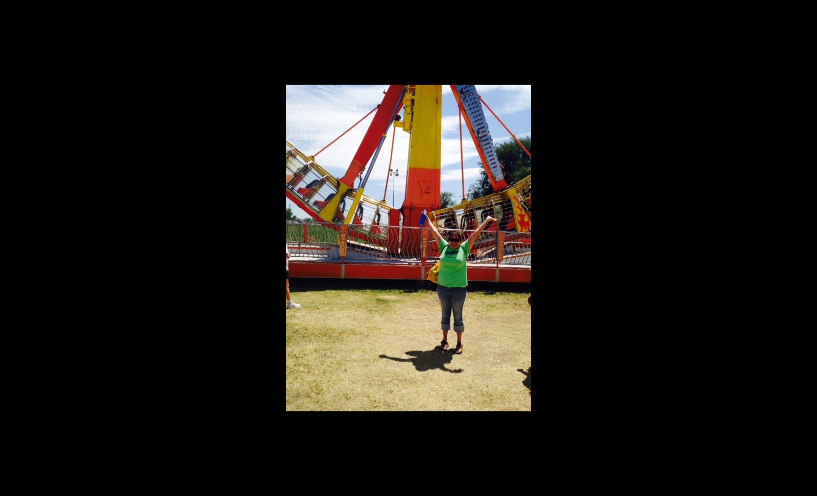 Title - Jacqueline living it up at the fair