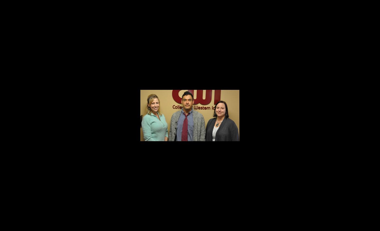 (Left to right) Rebecca Evans, Matthew Haynes, and Belinda Reyff.