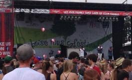 Title - CWI's Beach Balls Soar Over Festival Crowd